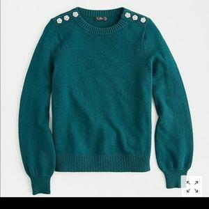 J. Crew Rhinestone Button Sweater - XL